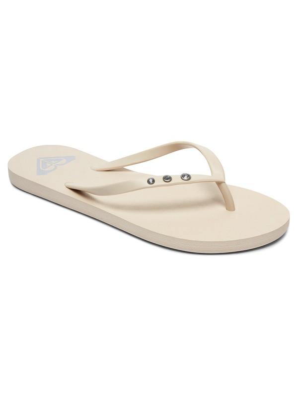 0 Viva Glitz - Tongs pour Femme Blanc ARJL100680 Roxy
