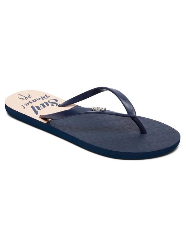 0 Viva Stamp - Flip-Flops for Women Blue ARJL100683 Roxy