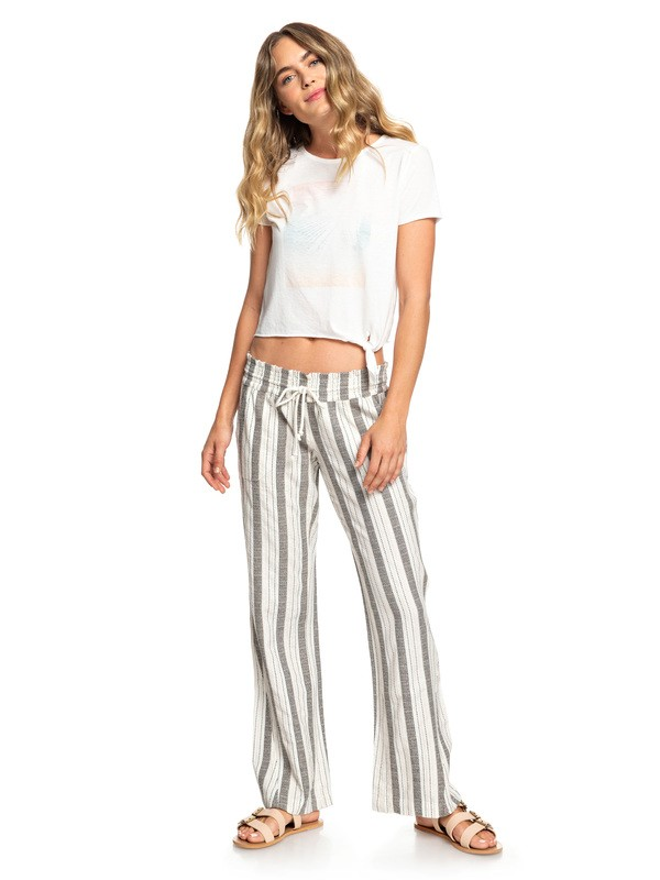 0 Oceanside - Flared Beach Pants White ARJNP03133 Roxy