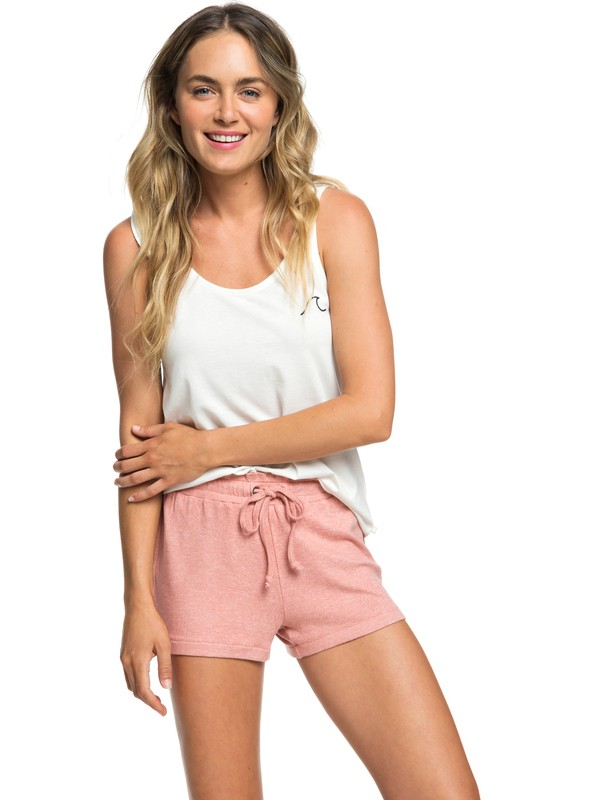 0 Little Smile - Sweat Shorts for Women Pink ARJNS03107 Roxy