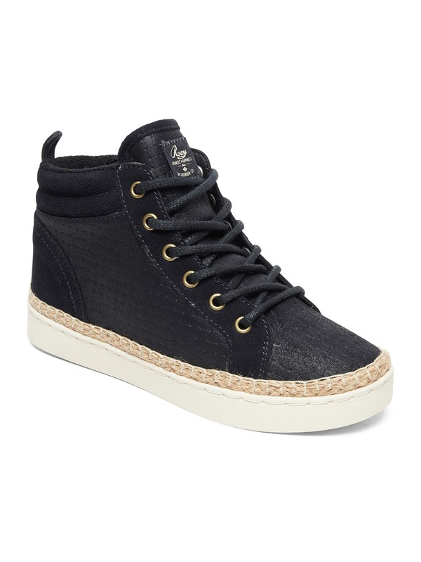 0 Harbor Fur - High-Top Shoes for Women Black ARJS100020 Roxy