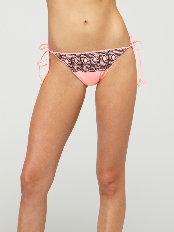 0 Radiate Love Brazilian String Bikini Bottom  ARJS400003 Roxy