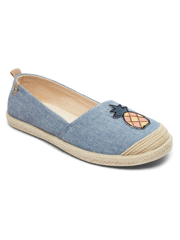 0 Flora  Slip On Shoes Blue ARJS600412 Roxy
