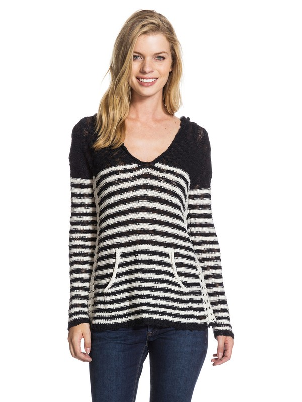 0 White Caps Stripe Pancho  ARJSW03009 Roxy