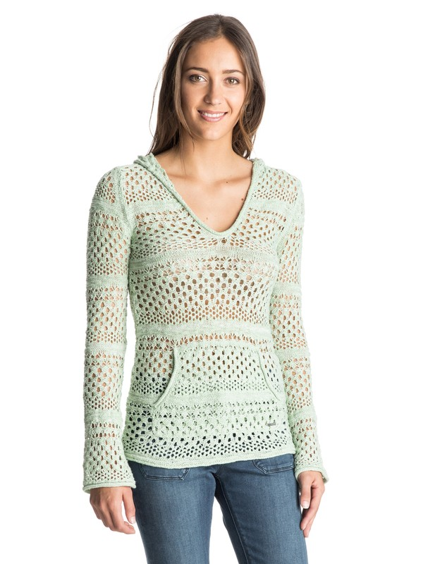 0 Gridley Hooded Poncho Sweater  ARJSW03130 Roxy