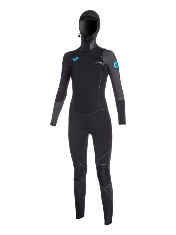 0 Cypher 5/4/3mm Hooded Chest Zip Hydrolock Wetsuit  ARJW200000 Roxy