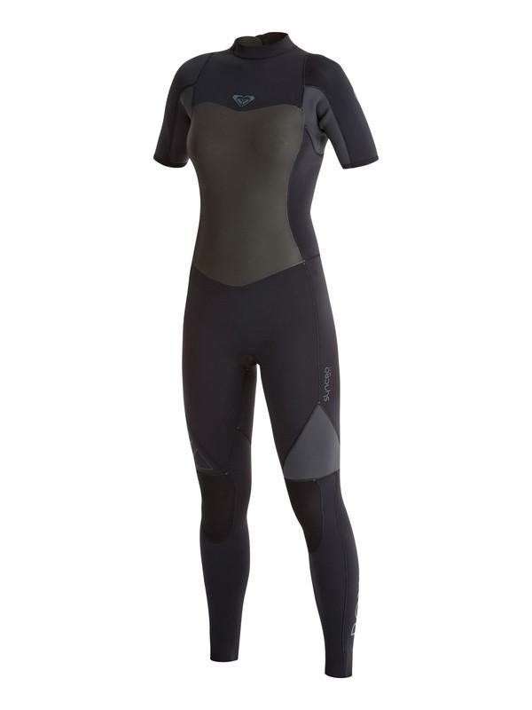 0 2mm Syncro GBS Back Zip Short Sleeve Fullsuit  ARJW303002 Roxy