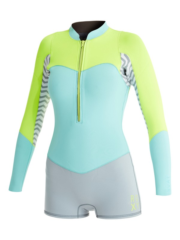 0 2mm XY Front Zip Long Sleeve Springsuit Grey ARJW403011 Roxy
