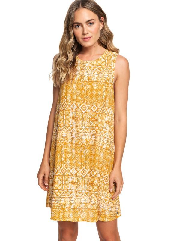 0 Harlem Vibes Short Length Sleeveless Dress Orange ARJWD03235 Roxy
