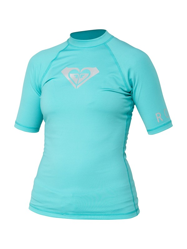 0 Whole Hearted Short Sleeve Rashguard  ARJWR00023 Roxy