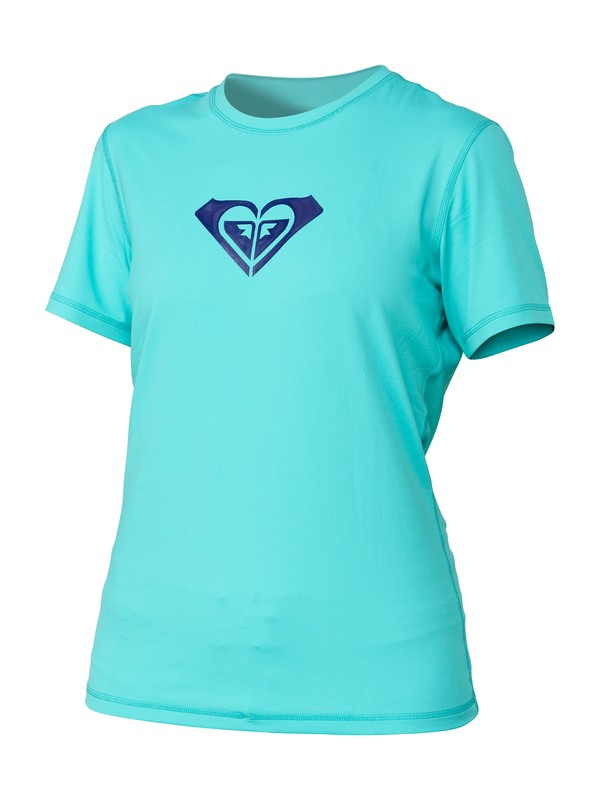 0 Basically Roxy Short Sleeve Rashguard  ARJWR00029 Roxy