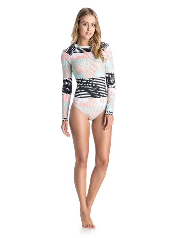 0 Pop Surf Long Sleeve One Piece Swimsuit  ARJWR03071 Roxy