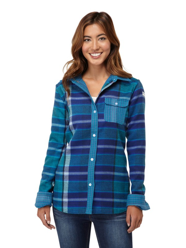 0 Two Way Flannel Riding Shirt  ARJWT00025 Roxy
