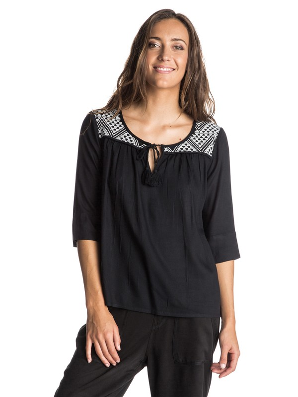 0 Gypsy Breeze Peasant Top  ARJWT03108 Roxy