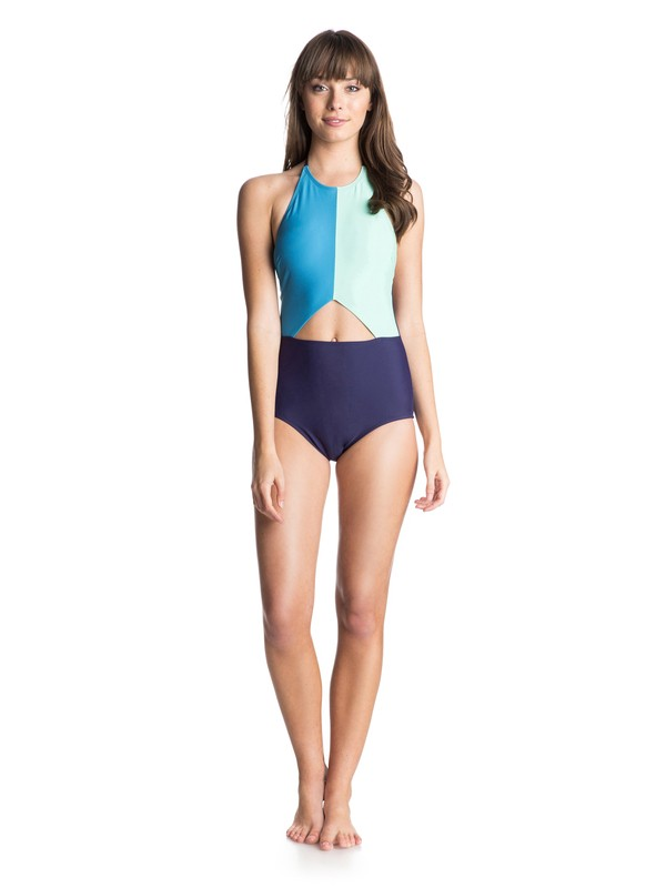 0 Color Me Badd Halter One Piece Swimsuit  ARJX103022 Roxy