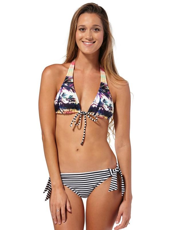 0 Sunset Stripe Racerback Halter Bikini Top  ARJX300066 Roxy