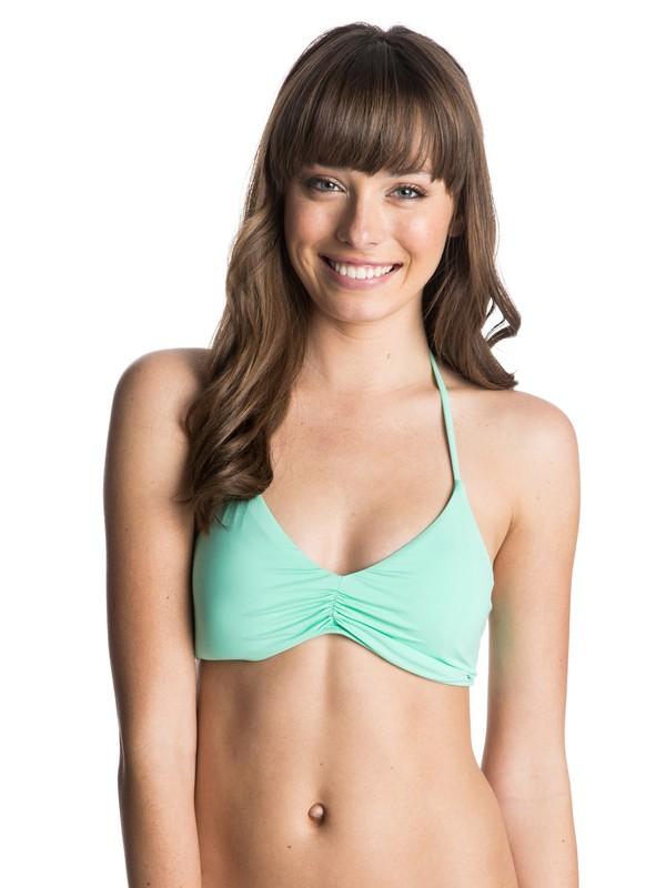 0 Girls Just Wanna Have Fun  Halter Tri Bikini Top  ARJX303074 Roxy