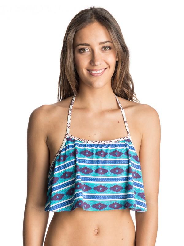 0 Woodstock Halter Flutter Bikini Top  ARJX303245 Roxy