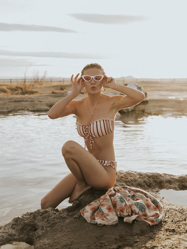 0 Beach Classics Bandeau Bikini Top Beige ARJX303385 Roxy