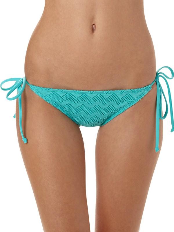 0 Making Waves Brazilian String Bikini Bottoms  ARJX400014 Roxy
