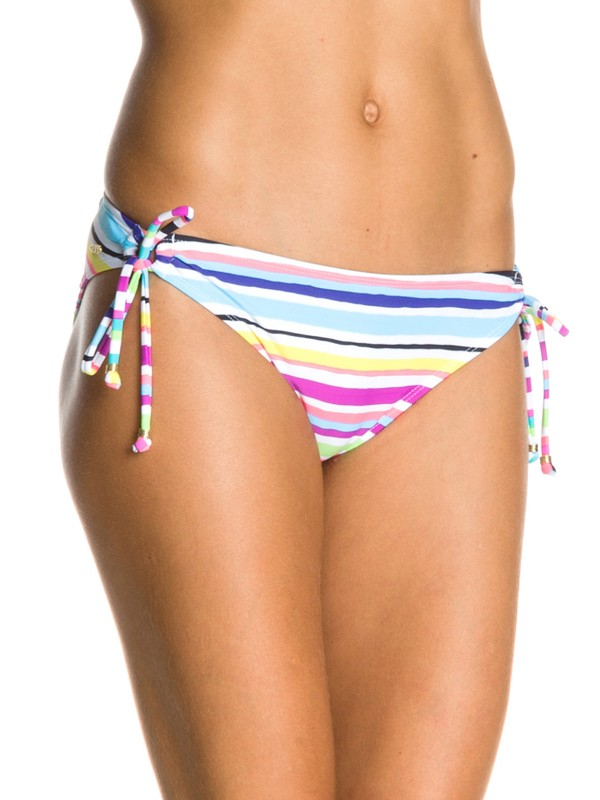 0 Sun Kissed 70s Lowrider Tie Side Bikini Bottoms  ARJX400018 Roxy