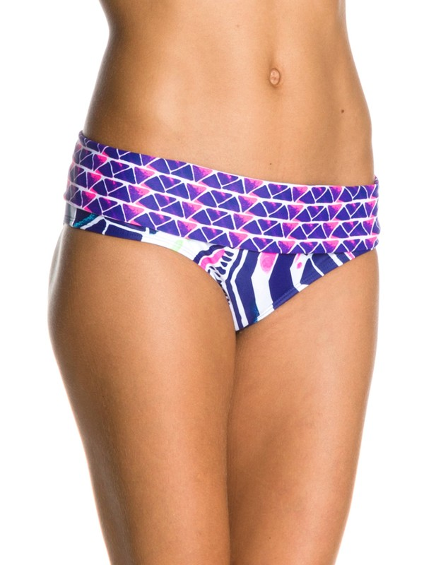 0 Graffiti Beach Foldover Brief Bikini Bottoms  ARJX400047 Roxy