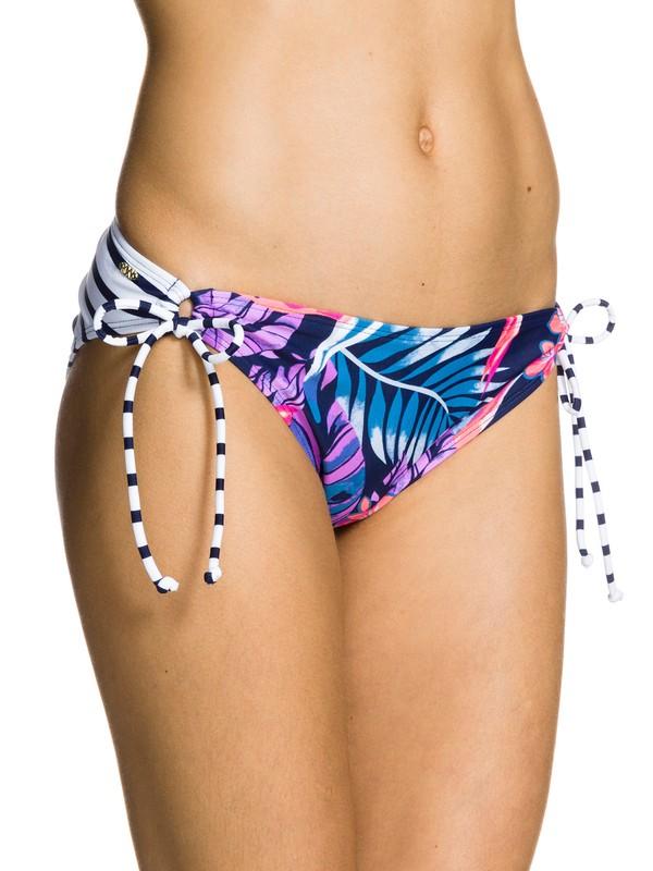 0 Tropical Daydream 70's Lowrider Tie Side Swim Bottom  ARJX403031 Roxy