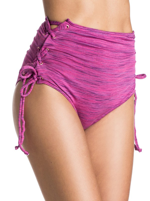 0 Road Less Traveled High Waisted Bikini Bottoms  ARJX403057 Roxy