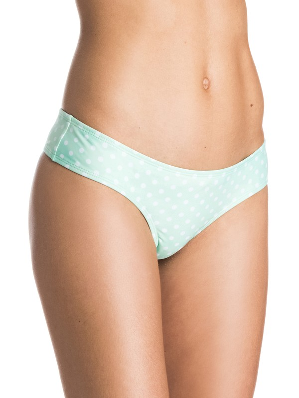 0 Pop Surf Optic Nature Cheeky Mini Bikini Bottoms  ARJX403095 Roxy