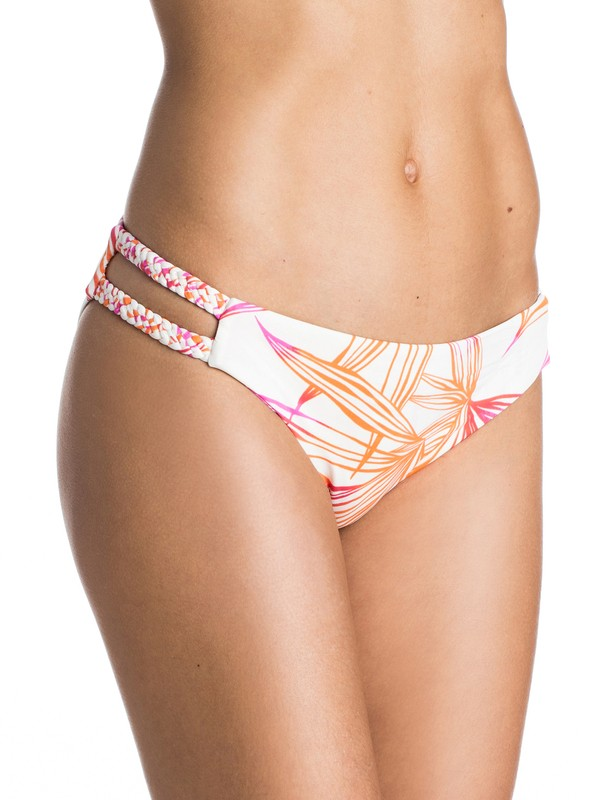 0 Hearts Of Palms Cheeky Scooter Bikini Bottoms  ARJX403102 Roxy