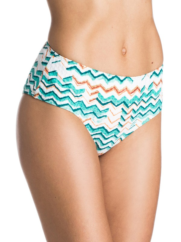 0 Sun Sand and Salt Mid Waisted Bikini Bottoms  ARJX403124 Roxy