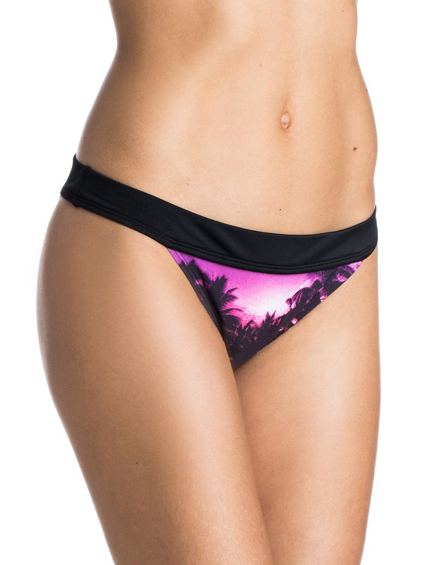 0 Midnight Swim Banded 70s Bikini Bottoms  ARJX403141 Roxy