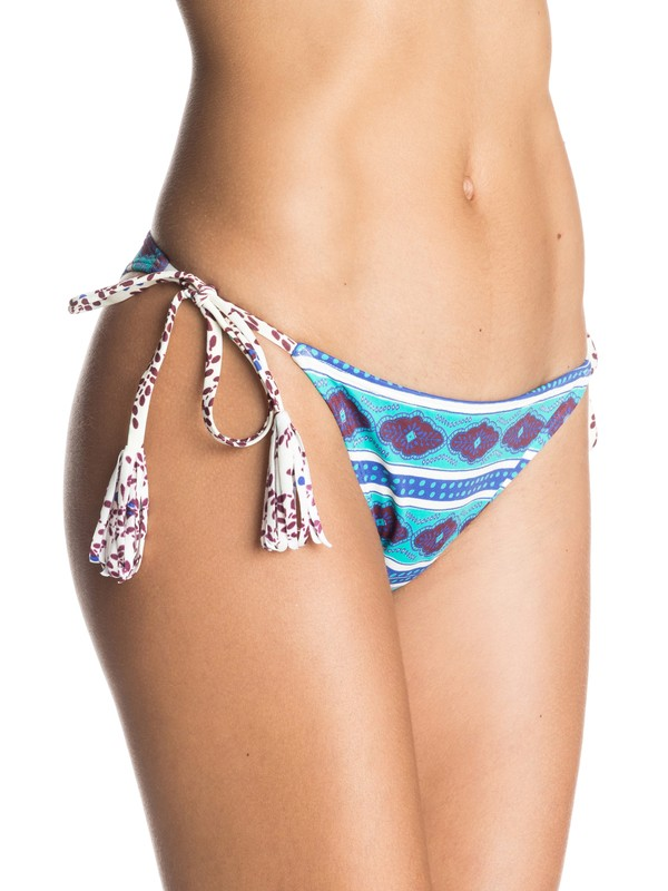 0 Woodstock Mini Tie Bikini Bottoms  ARJX403225 Roxy