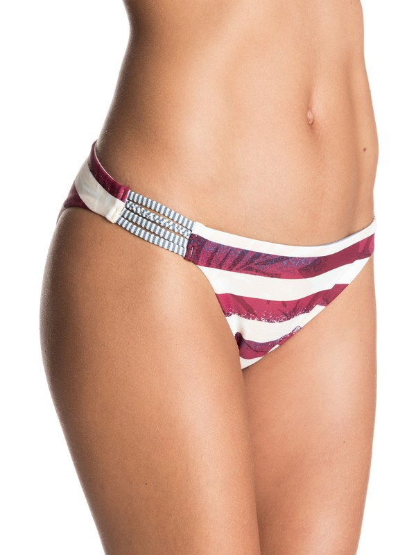 0 Liberty Reversible 70's Braided Bikini Bottoms  ARJX403302 Roxy