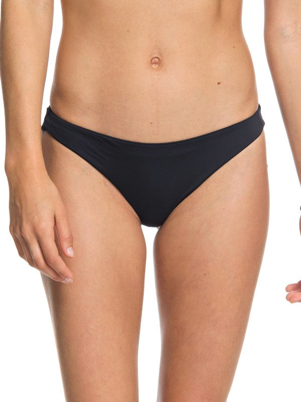 0 Strappy Love Reversible Mini Bikini Bottoms Black ARJX403323 Roxy
