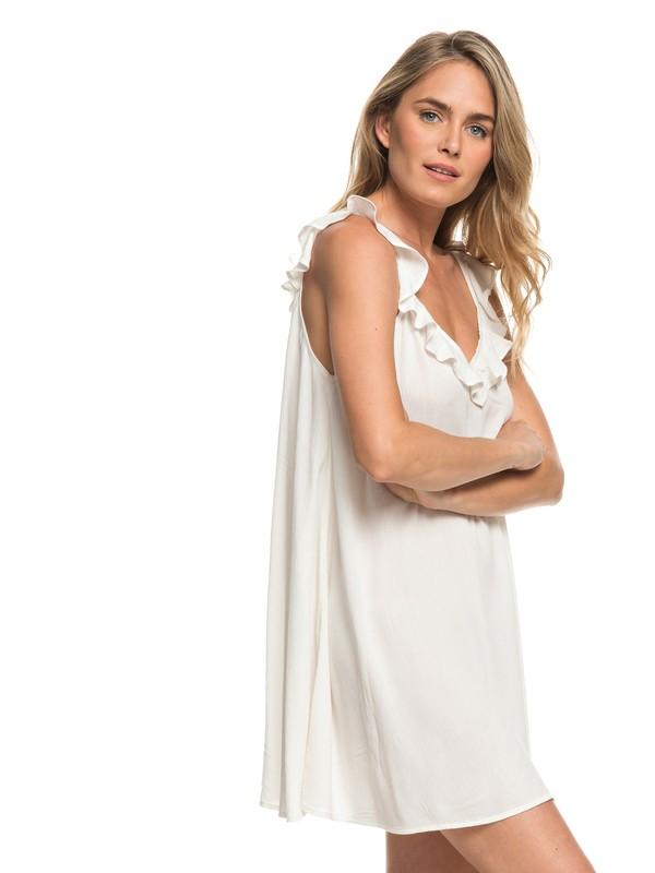 0 Dancing Around Beach Dress White ARJX603105 Roxy