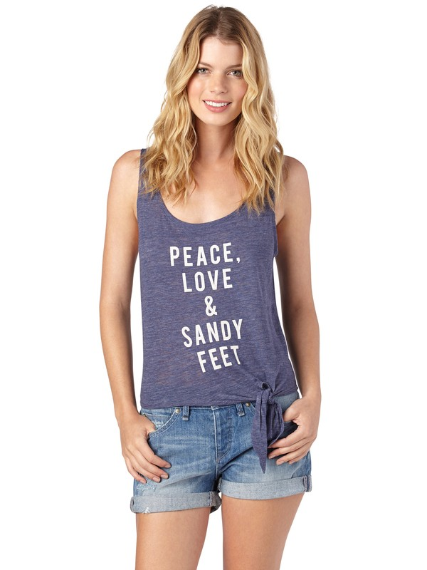 0 Peace Love And Sandy Feet Tank Top  ARJZT00483 Roxy