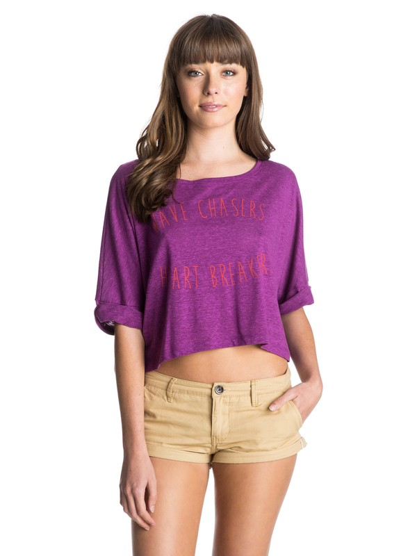 0 Heart Breakers Crop Tee  ARJZT03281 Roxy
