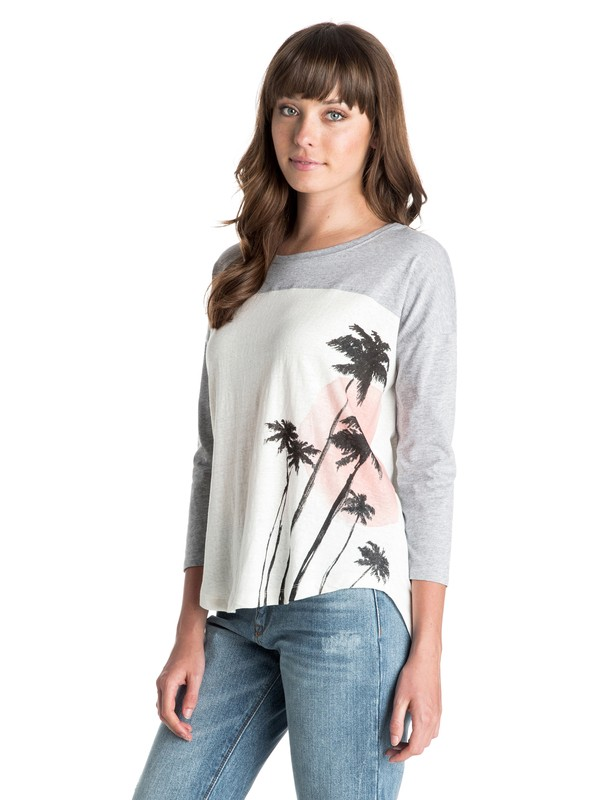 0 Palm Sun Long Sleeve Tee  ARJZT03339 Roxy