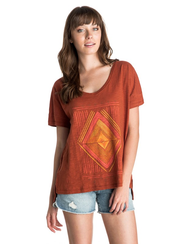 0 Diamond Daze Tee  ARJZT03340 Roxy