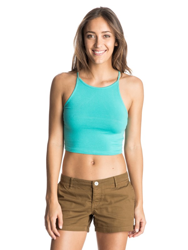0 Crop Criss Cross Halter Top  ARJZT03563 Roxy