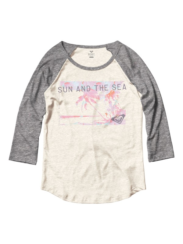 0 Sun And The Sea Baseball Raglan - T-Shirt  ARJZT04317 Roxy