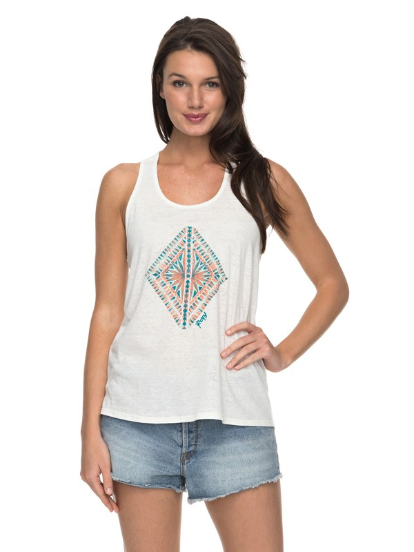 0 Diamond In The Rough Twist Tank Top  ARJZT04351 Roxy