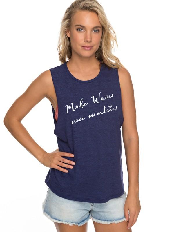 0 Make Waves Muscle Tank Blue ARJZT04721 Roxy