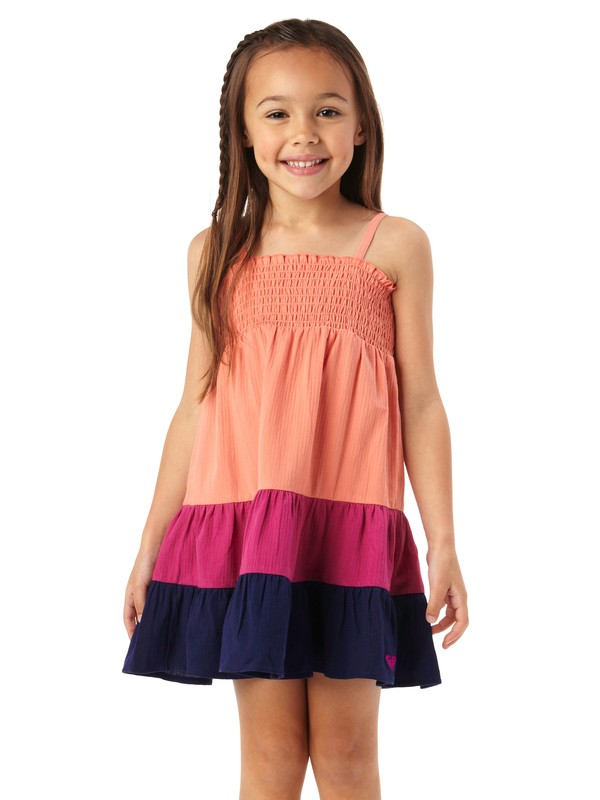 0 Girls 2-6 Block Party Dress  ARLWD00013 Roxy