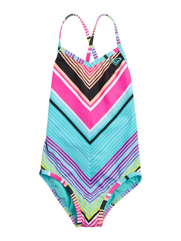 0 Girls 2-6 Roxy Border Cross Over One Piece Swimsuit  ARLX100003 Roxy