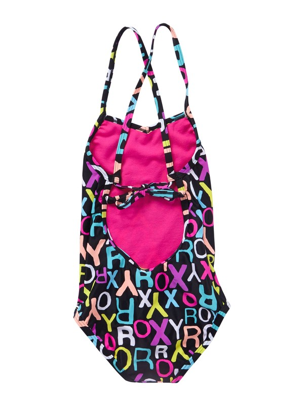 0 Girls 2-6 Roxy Border Cross Over One Piece Swimsuit  ARLX100004 Roxy