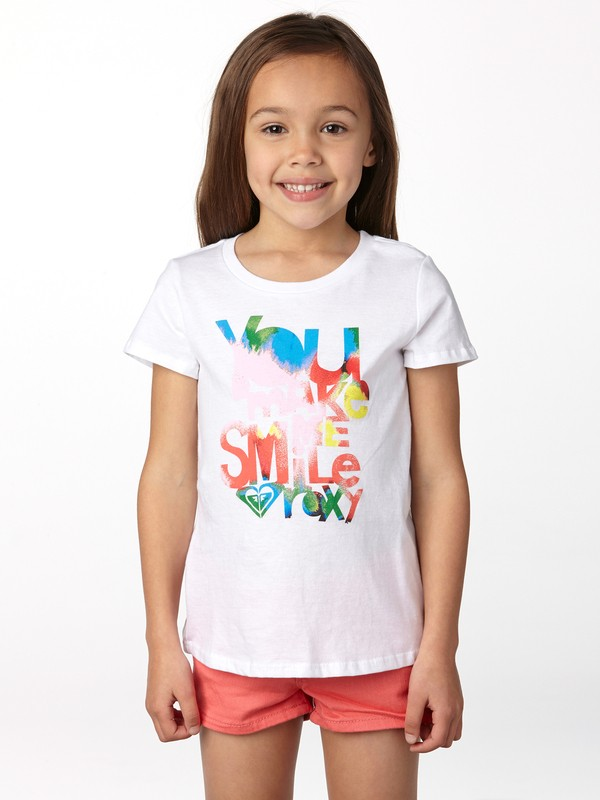 0 Girls 2-6 You Make Me Smile Tee  ARLZT00088 Roxy