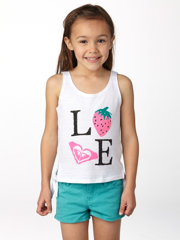 0 Girls 2-6 Strawberry Love Tank  ARLZT00117 Roxy