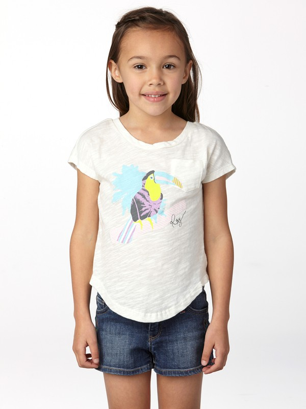 0 Girls 2-6 Toucan Tango Tie Back Tee  ARLZT00119 Roxy
